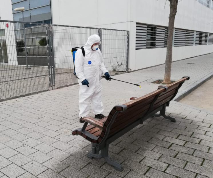 Desinfección de calles por COVID19